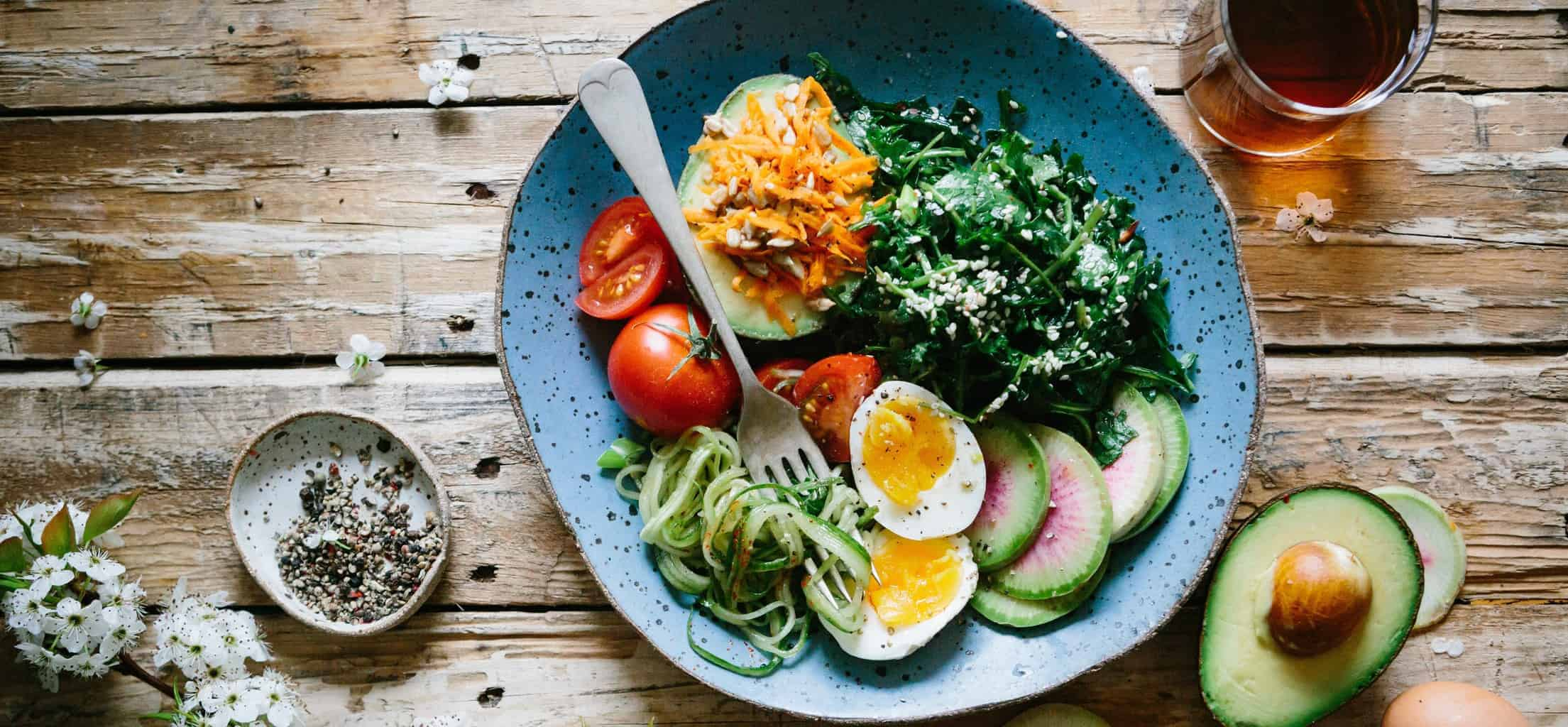 A plate of healthy delicious food.