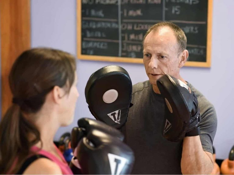 Personal Training - client fitness boxing with personal trainer.